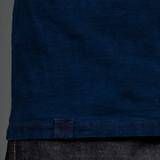 Momotaro MT302 Zimbabwe Cotton T Shirts - Indigo - Stripe