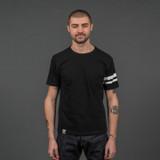 Momotaro MT302 Zimbabwe Cotton T Shirts - Black - Stripe