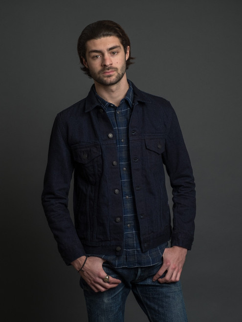 Pure Blue Japan 18 oz. Type III  Denim Jacket - Double Indigo