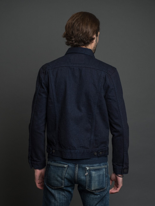 Pure Blue Japan 18 oz. Type II  Denim Jacket - Double Indigo