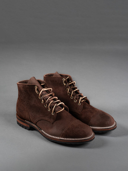 Viberg Service Boot - Tobacco Chamois Roughout - Commando