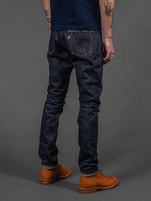 PBJ AI-019 17.5 oz. Natural Indigo Relaxed Tapered Jeans