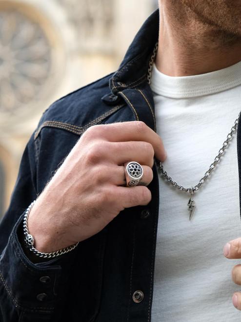 Good Art Sterling Silver Club Ring - Medium