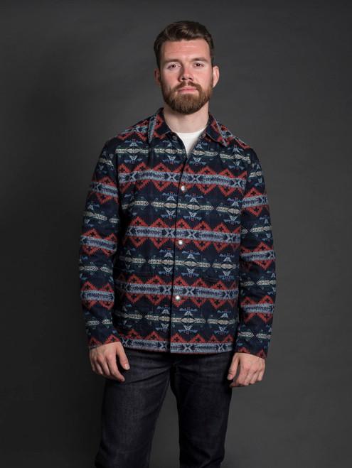 Stevenson Overall Indigo Lone Wolf Jacket