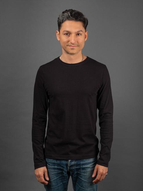 Merz b. Schwanen 1950s Organic L/S T-Shirt - Black