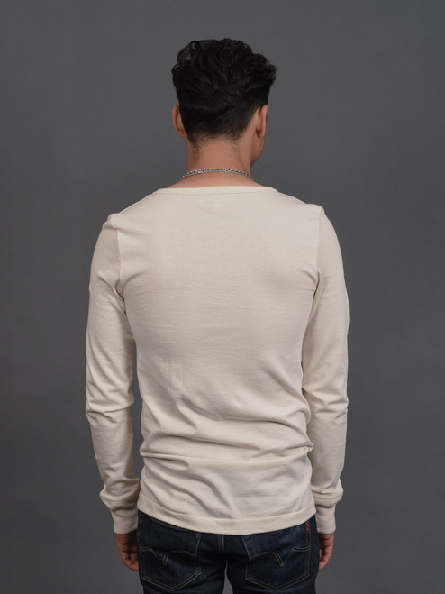 Merz b. Schwanen 2 Thread 206 Heavyweight Organic Henley - Natural