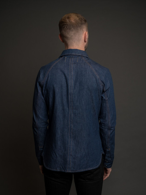 Nine Lives Replicant Raglan Western - Denim/Linen Indigo