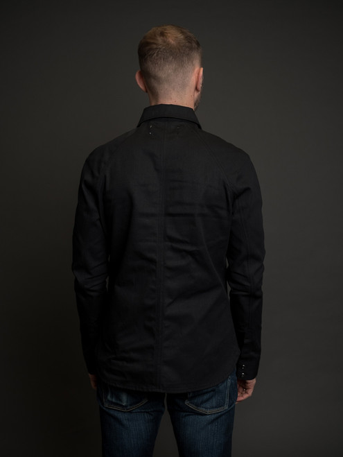 Nine Lives Replicant Raglan Western - Black Selvedge Denim