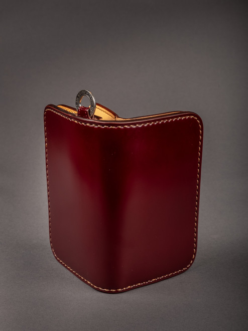 Iron Heart Medium Shell Cordovan Wallet Oxblood