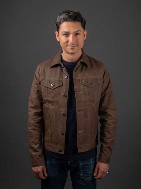 3sixteen Field Tan Waxed Canvas Type 3 Jacket