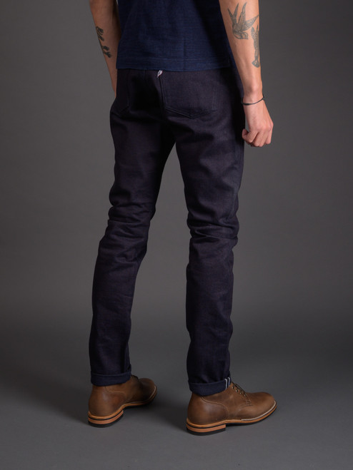 Pure Blue Japan XX-18oz-019 Relaxed Tapered Jeans - Double Indigo