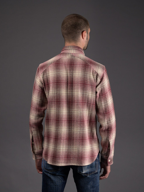3sixteen Brushed Crosscut Flannel - Red/Cream