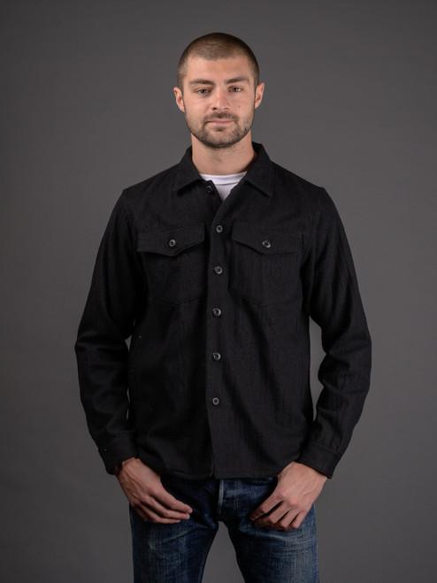 3sixteen Wool Blend Fatigue Overshirt - Black