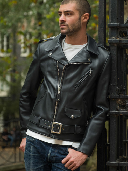 Schott NYC 613S Steerhide Rider's Jacket - Black
