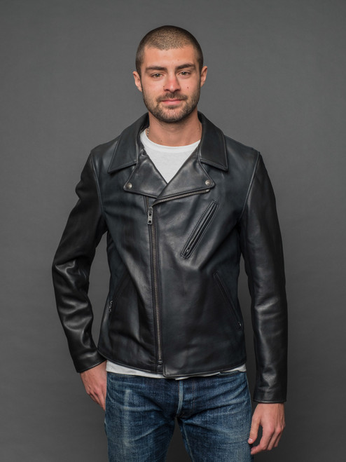 Schott NYC 503 Cowhide Rider's Jacket - Black