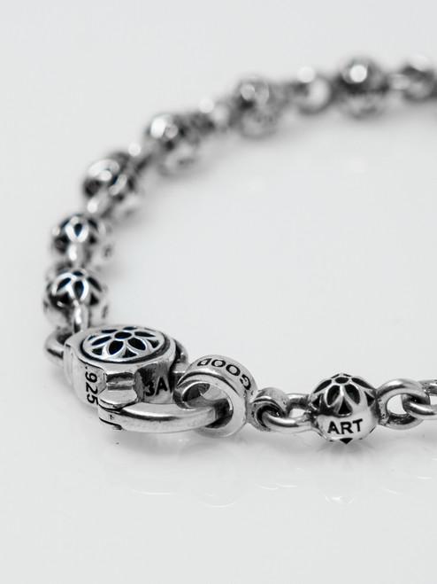 Good Art Sterling Silver Rosette Oyster Bracelet AAA