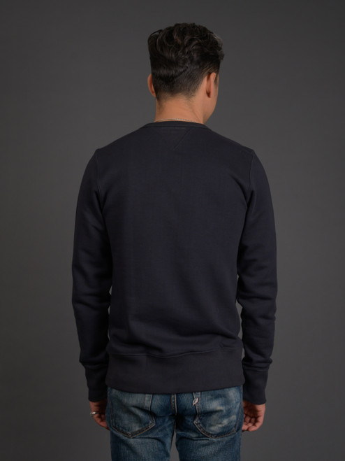 Merz b. Schwanen 346 Heavyweight Crew Neck Sweater - Charcoal