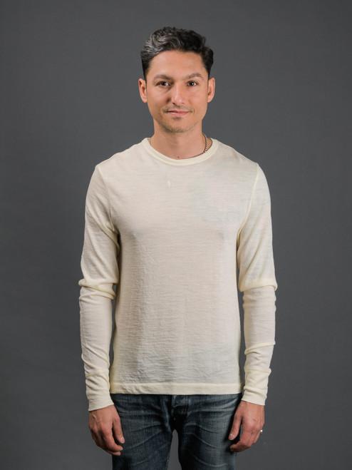 Merz b. Schwanen Extra Fine Merino Wool L/S T-Shirt - Natural