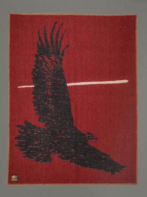 Indigofera 100% Wool Blanket - Eagle