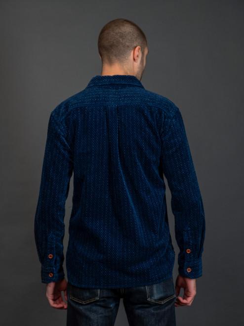 Momotaro 05-242 Indigo Corduroy Shirt