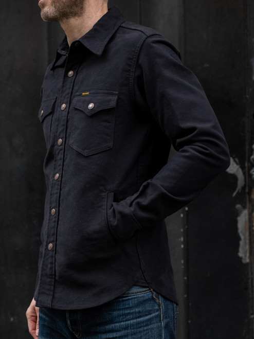 Iron Heart IHSH-216 Heavy Moleskin CPO Shirt - Navy