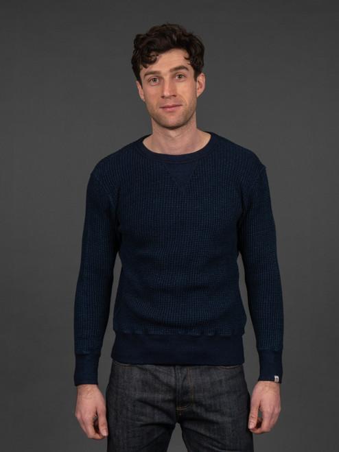 UES Indigo Waffle Sweatshirt