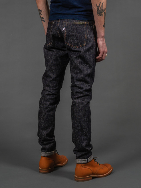 Pure Blue Japan SN-019 Snow Denim Relaxed Tapered Jeans