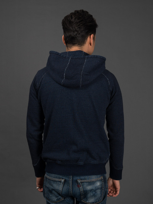 Pure Blue Japan Indigo Zip Hoodie