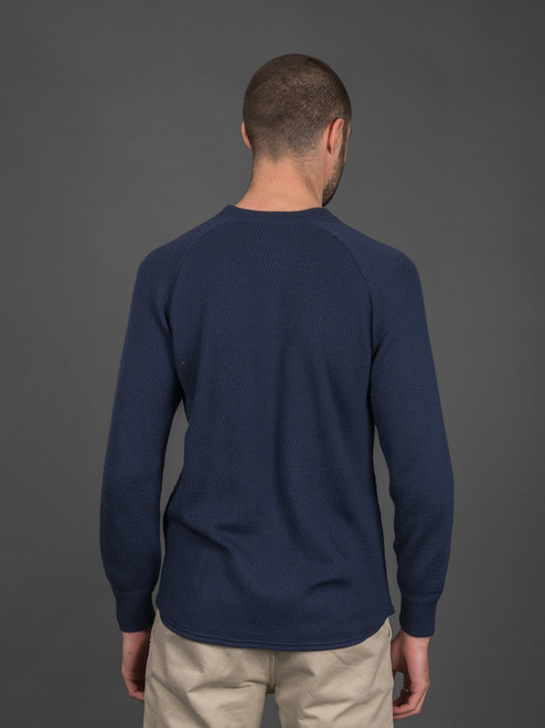 Stevenson Overall Merino Wool Thermal Sweater - Navy