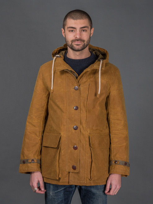 Fleurs De Bagne Heavyweight Waxed Canvas Snow Parka