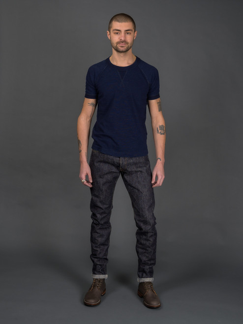 Pure Blue Japan SN-013 Snow Denim Slim Tapered Jeans