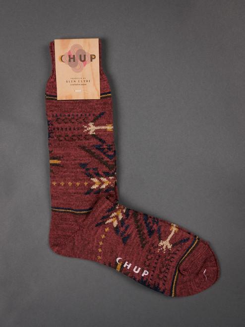 Chup Socks - Q'oa - Berry Red