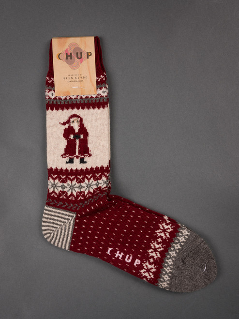 Chup Socks - Santa - Red