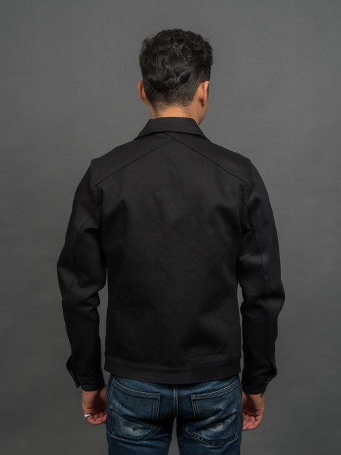 3sixteen DJ-220x Double Black Trucker Jacket