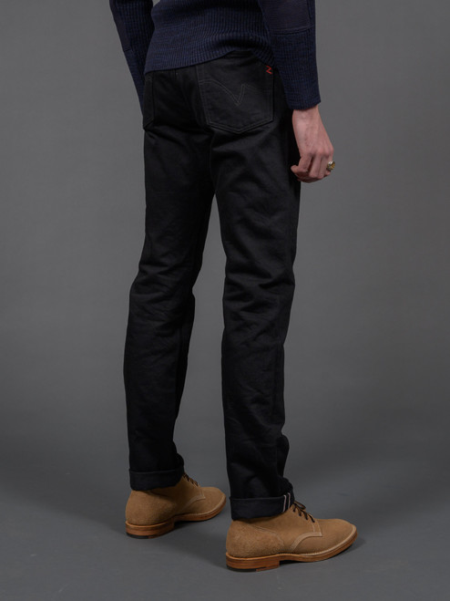 Iron Heart IH-888S-142bb 14 oz. Relaxed Tapered Jeans - Black/Black