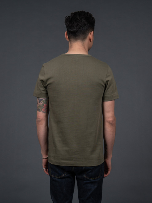 Merz b. Schwanen 2 Thread 215 Heavyweight Organic T Shirt – Army
