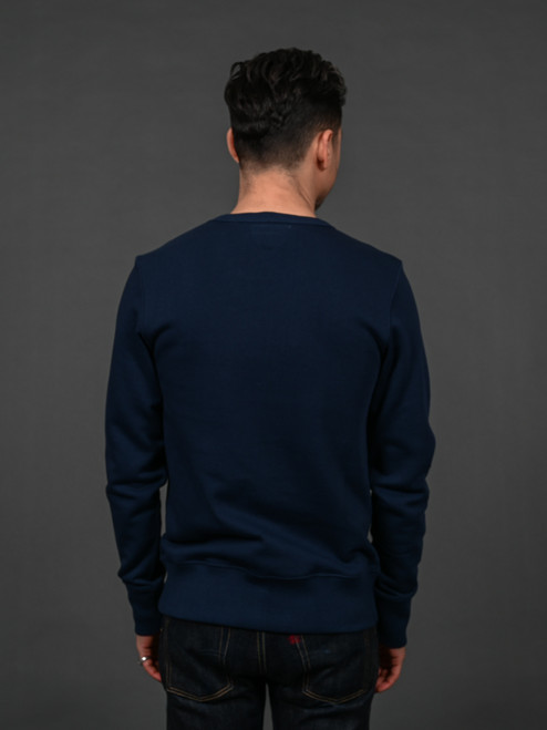 Merz b. Schwanen 346 Heavyweight Crew Neck Sweater – Ink Blue