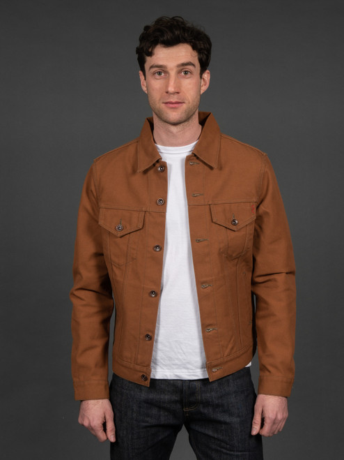 Iron Heart 17 oz. Duck Modified Type III Jacket - Brown
