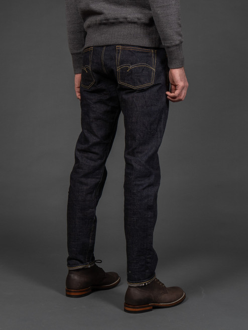 Studio D'Artisan 40th Anniversary Charcoal Weft Jeans - Relaxed Tapered