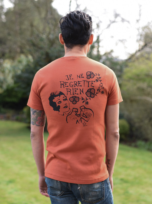 """Fleurs de Bagne """"Je ne Regrette Rien"""" Loopwheeled T Shirt"""