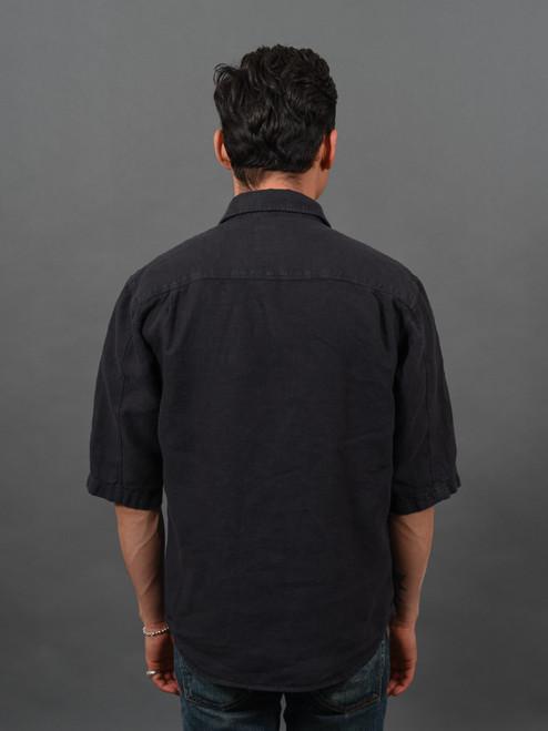 Indigofera Delray Shirt - Black Linen