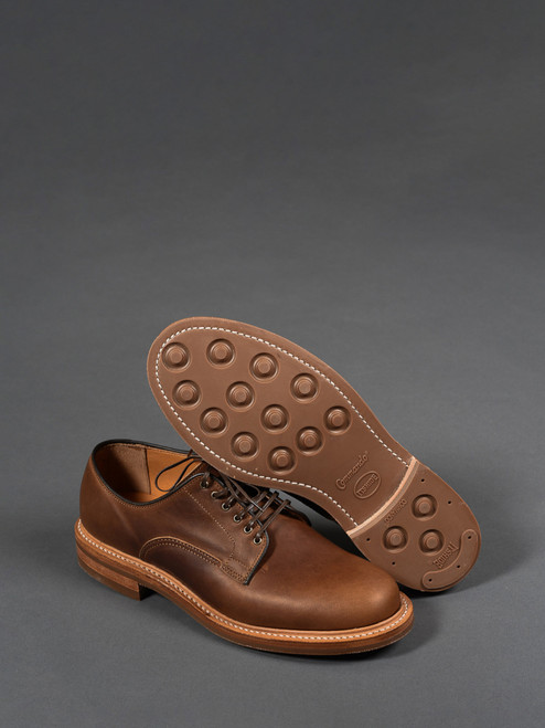 Viberg Derby Shoe - Camel Oiled Calf
