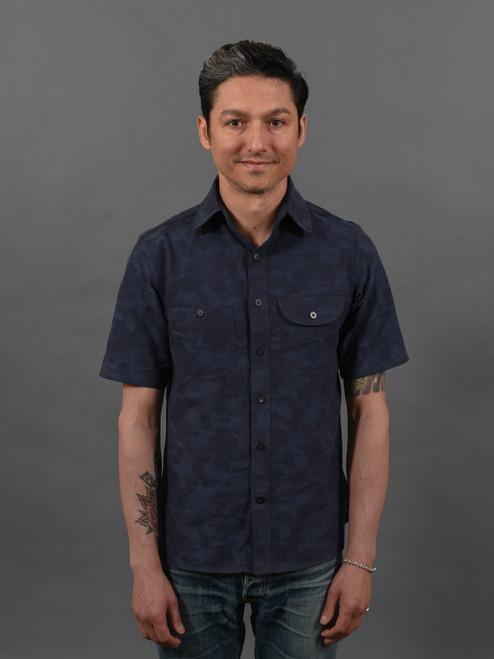 Rogue Territory S/S Work Shirt - Blue Camo