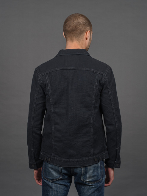 Pure Blue Japan Double Black Sashiko Type II Jacket