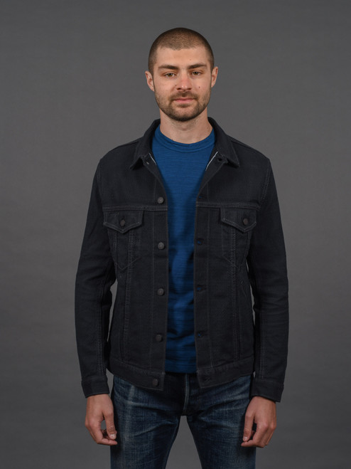 Pure Blue Japan Double Black Sashiko Type III Jacket
