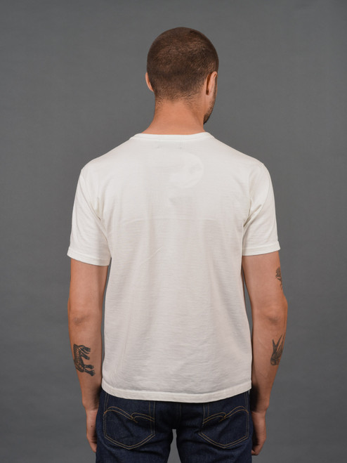 Studio D'Artisan Suvin Gold Loopwheeled T Shirt - White