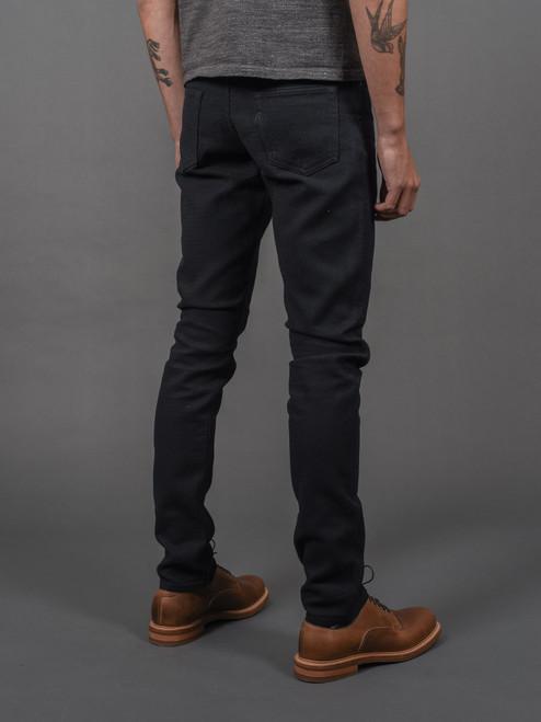 Pure Blue Japan Double Black Sashiko Pants - Slim Tapered