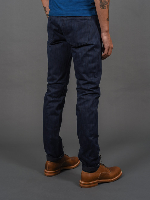 Pure Blue Japan AIBK-013 Natural Indigo x Sumi Ink Slim Tapered Jeans