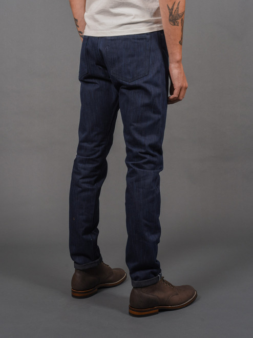 Pure Blue Japan AIBK-019 Natural Indigo x Sumi Ink Relaxed Tapered Jeans