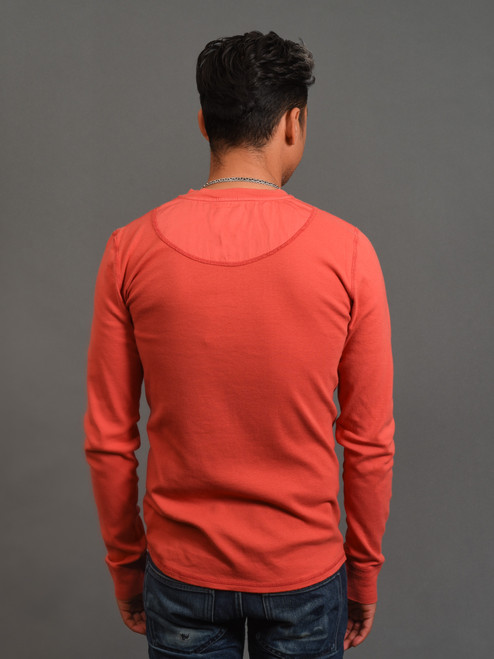 B.O.T.D. Tubular Long Sleeve Henley - Coral